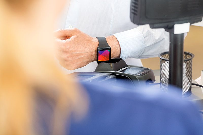 Mobile technology support payment watch solutions